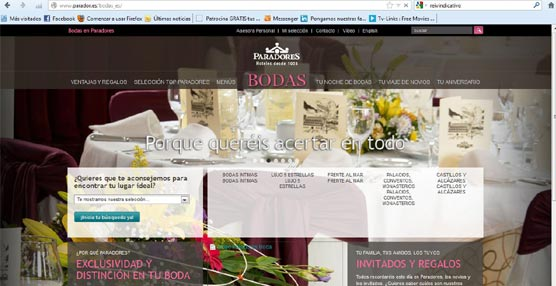 Paradores de Turismo amplia su escaparate virtual con la creación de tres portales especializados, en castellano e inglés