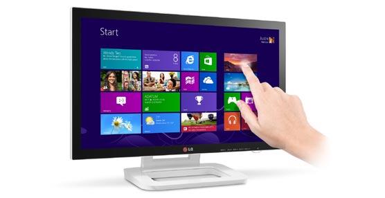 La compañía LG presenta su monitor Touch 10 desarrollado para Windows 8 que permite un mayor control táctil