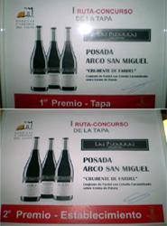 El Hotel Posada Arco San Miguel de Calatayud recibe sendos premios al mejor establecimiento y mejor tapa