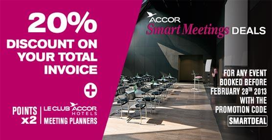 El Grupo Accor lanza una promoción para organizar eventos en más de 500 hoteles de Europa