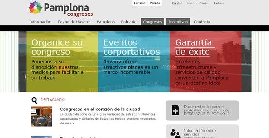 El Ayuntamiento de Pamplona presenta una 'web' con toda la información necesaria para celebrar un congreso en la ciudad