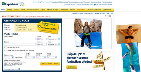 Expedia gana 206 millones de euros en 2012, lo que supone un fuerte retroceso del 40% respecto al año anterior