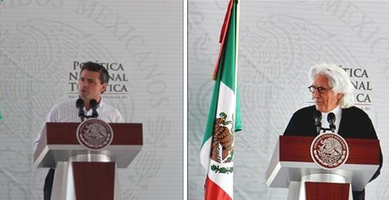 Enrique Peña Nieto y Miguel Fluxá.
