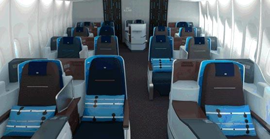 La aerolínea KLM renueva su cabina World Business Class con nuevo diseño y un asiento totalmente plano