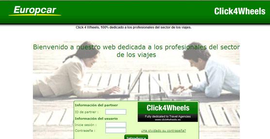 Europcar pone a disposición de los agentes Click4wheels, herramienta que simplifica los procesos de reserva
