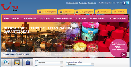 TUI Spain actualiza la estructura de su página 'web' buscando facilitando las búsquedas en base al presupuesto