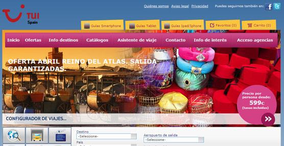 TUI Spain renueva su 'web' prescindiendo de la estructura tradicional de búsquedas por continentes, país o destino