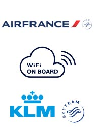 Air France y KLM lanzan la conexión Wi-Fi a bordo para permitir el envío de SMS, 'e-mails' y navegar en Internet