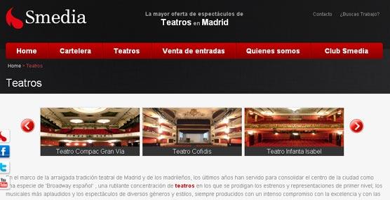 Grupo Smedia crea una innovadora plataforma virtual para gestionar las entradas de algunos teatros de Madrid