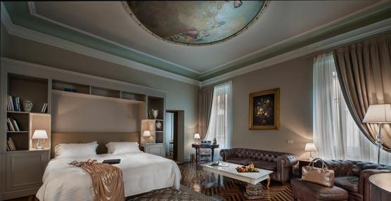 Palazzio Victoria presenta su suite Marcellus, con 245 m², cuatro habitaciones y frescos originales en el techo