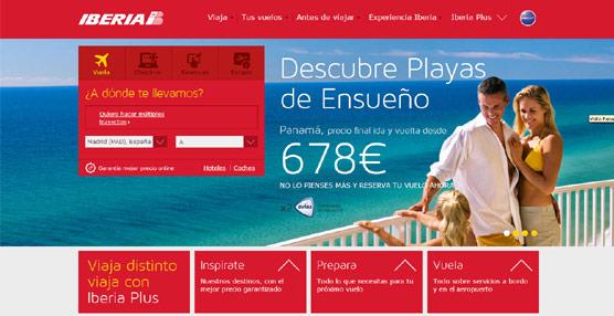 Iberia lanza una nueva 'web' que ofrece un tratamiento personalizado al cliente y simplifica el proceso de reserva