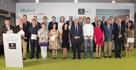 Madrid reconoce la labor desinteresada de captación de grandes eventos de 23 profesionales en el Recognition Night