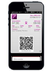 Renfe permite solicitar el envío de los billetes comprados en su página 'web' a las aplicaciones Passbook y Passwallet