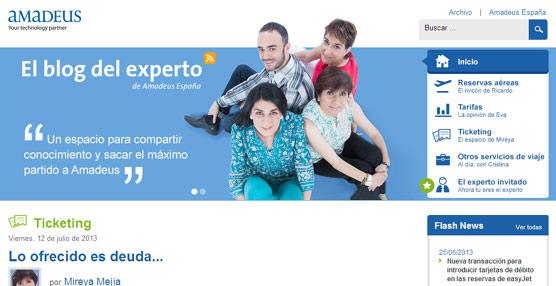 'El blog del experto' de Amadeus España llega a los 3.500 agentes de viajes en menos de tres años desde su creación