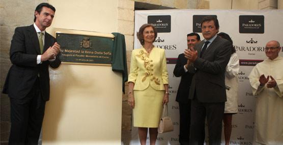 Su Majestad la reina inaugura un nuevo Parador junto al ministro de Industria, Energía y Turismo