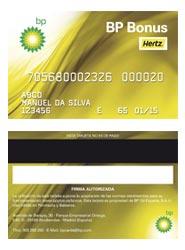 La tarjeta BP para clientes de Hertz.
