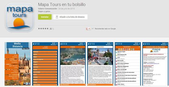 Mapa Tours lanza una aplicación móvil para Android y Apple con información sobre los destinos que oferta