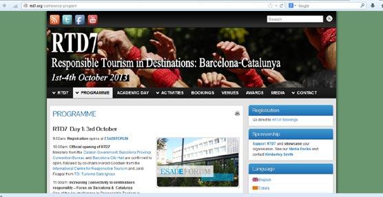 Barcelona acoge por primera vez la Conferencia Internacional de Turismo Responsable en Destinaciones