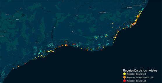 Lanzan una herramienta que permite visualizar datos sobre la valoración de los hoteles de la Costa del Sol