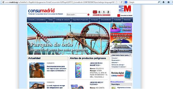 Madrid recuerda que los parques de ocio deben contar con licencia y seguros de responsabilidad civil