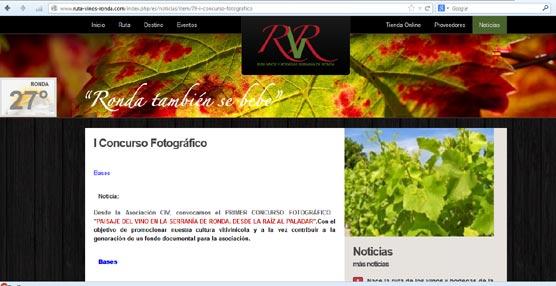 La Asociación CIV de la Serranía de Ronda convoca el concurso fotográfico vitivinícola