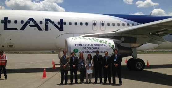 LAN Airlines realiza el primer vuelo comercial con biocombustible de segunda generación en Colombia