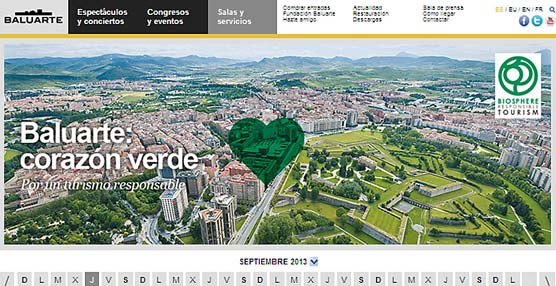 La página 'web' del Palacio de Congresos Baluarte recibe 283.441 visitas en el último año