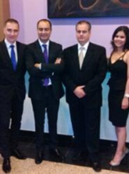 Parte del equipo directivo del Hotel Riu Plaza Panama pocos minutos de comenzar el evento.