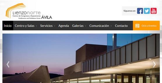El Centro de Congresos Lienzo Norte de Ávila estrena una página 'web' que incluye la visita virtual a las instalaciones