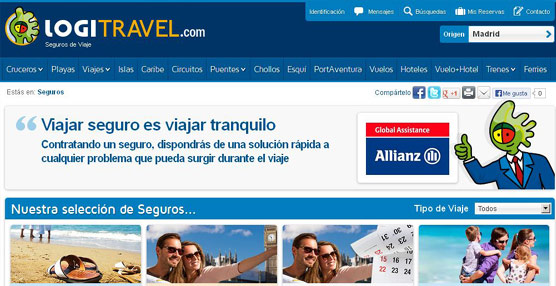 La agencia 'online' Logitravel incorpora la venta de seguros de viaje de la mano de Allianz Global Assistance