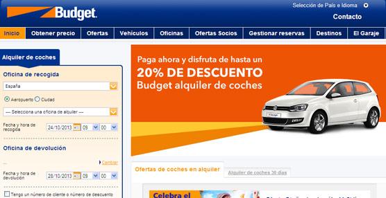 Budget comienza a comercializar su oferta de alquiler de vehículos a través de las agencias de viajes españolas