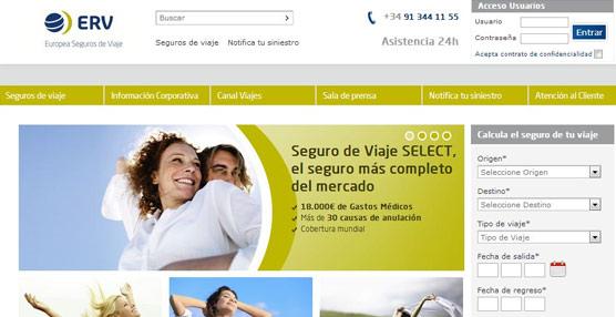 ERV Europea Seguros de Viaje lanza una nueva página 'web' más dinámica y accesible para el usuario