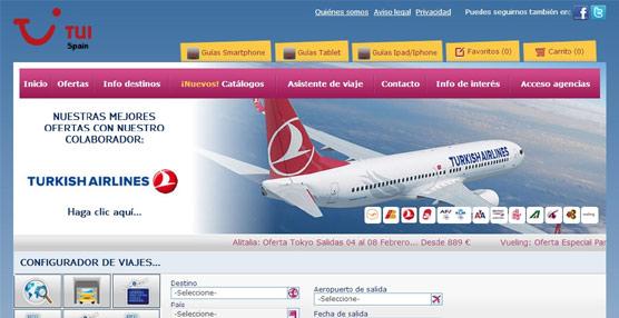 TUI Spain incorpora en su página 'web' un microespacio con la oferta de más de una decena de compañías aéreas
