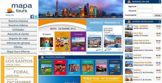 Aumentan un 20% el número de reservas que los agentes de viajes realizan a través de la 'web' de Mapa Tours
