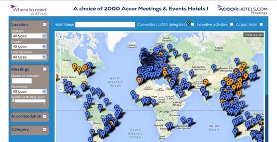 La nueva herramienta de Accor permite encontrar un hotel para celebrar una reunión en cualquier lugar del mundo.