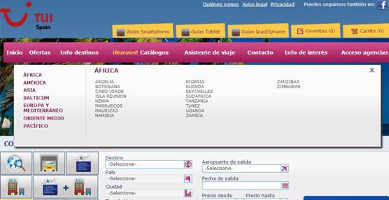 TUI Spain incrementa la información sobre los destinos a través de Infodestinos en su página 'web'