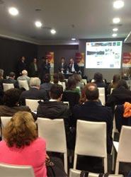 La presentación de la Diputación de Sevilla en Lisboa.