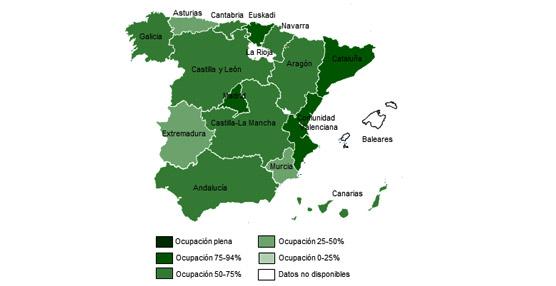 La ocupación rural para Nochevieja alcanza el 65%, con Cataluña, Madrid y Comunidad Valenciana a la cabeza
