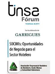 Hosbec y Tinsa organizan una jornada sobre las SOCIMIs como nuevas fuentes de oportunidad para el sector hotelero