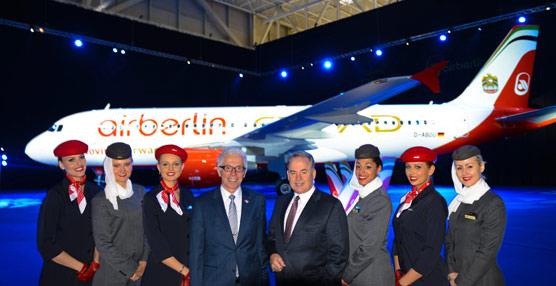 Las aerolíneas airberlin y Etihad Airways amplían su colaboración y presentan un avión con un diseño común