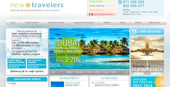 New Travelers cierra 2013 con un incremento de ventas del 77% gracias a la buena acogida de su oferta de 'paquetes' y hoteles