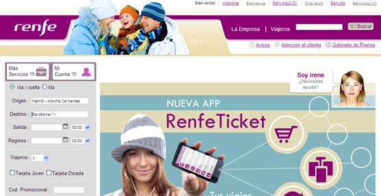 Renfe vende en su página 'web' el doble de billetes que a través de las agencias de viajes, con pesos respectivos del 41% y 20%