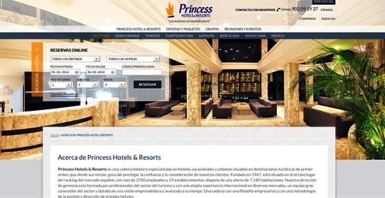 Princess Hotels distribuye sus reservas en 360º con la tecnología de Idiso y los servicios de Innwise