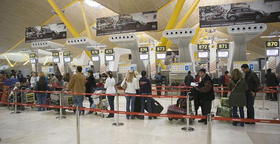 El número de pasajeros en los aeropuertos de Aena crece por encima del 2% en enero, lo que supone el tercer aumento consecutivo