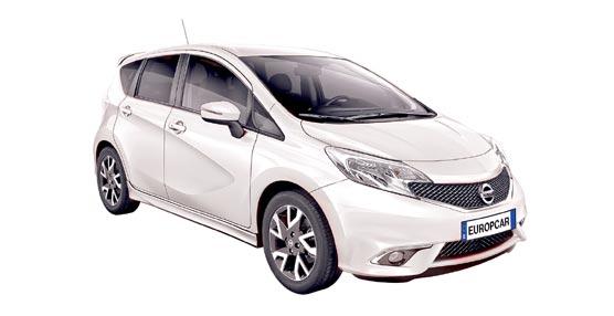 Europcar incorpora a su flota el nuevo Nissan Note en sus versiones Tekna Premium, Tekna Sport, Acenta y Naru Edition