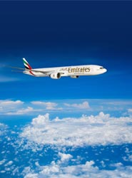 Un avión de Emirates.