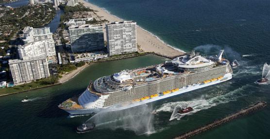 Barcelona recibirá el año que viene 158.000 pasajeros del Allure of the Seas, que dejarán 17,5 millones en la ciudad