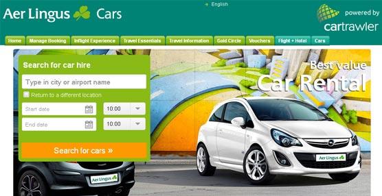 Aer Lingus nombra a la plataforma CarTrawler socio exclusivo para el servicio de alquiler de coches