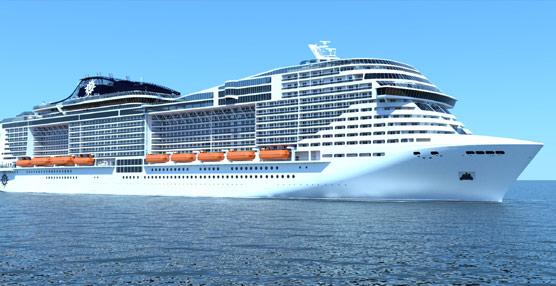 MSC Cruceros ampliará su capacidad en un 31% e incorporará a su flota el mayor crucero de una naviera europea