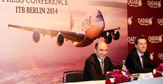 Qatar Airways presenta las novedades del avión A380-800, entre las que destaca los nuevos asientos de Primera Clase